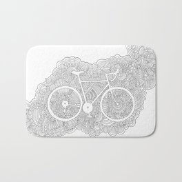 Bike Drawing Meditation Bath Mat