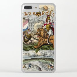 Raphael's Prophetic Almanack: a mob by the Palace of Westminster (1844) Clear iPhone Case
