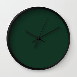 Phthalo Green - solid color Wall Clock