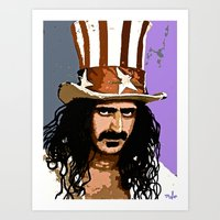 zappa Art Prints featuring Zappa by Saundra Myles