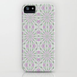 Rosettes in Purple and Green iPhone Case