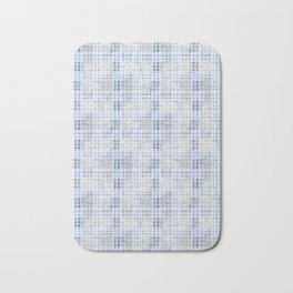 Classical blue with a gray cell. Bath Mat