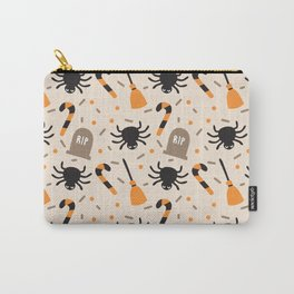 Happy halloween brooms, graves, spiders and sweets pattern Carry-All Pouch