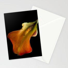Orange Calla Lily Flower Stationery Cards