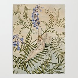 """Fairy Resting Among Flowers"" by Amelia Jane Murray Poster"