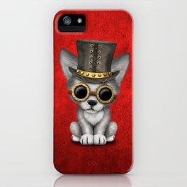 Steampunk Baby Wolf Cub iPhone Case