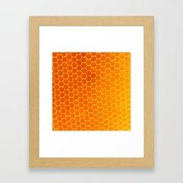 NATURES GOLDEN HONEYCOMB WAX ART PATTERN Framed Art Print