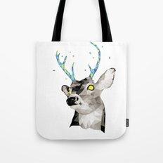 Geosafari | Deer (White) Tote Bag