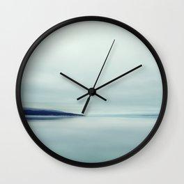 Blurred blue lines Wall Clock