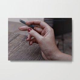 Nicotine Metal Print