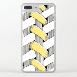 Basket Weave Clear iPhone Case