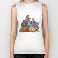 breakfast club Biker Tanks featuring The Breakfast Club by Heidi Banford