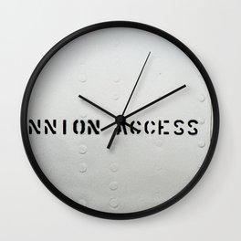 TRUNNION ACCESS DOOR Wall Clock