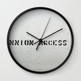 TRUNNION ACCESS DOOR Wall Clock