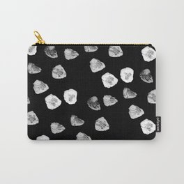 Abstract black and white watercolor polka dots Carry-All Pouch