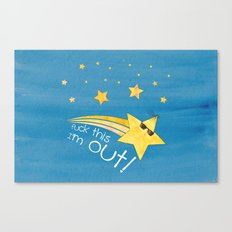 Sad Star Canvas Print