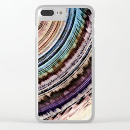 Abstract Textural Rings Clear iPhone Case