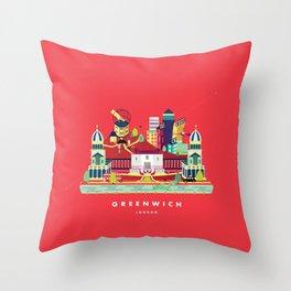 Greenwich, London Throw Pillow