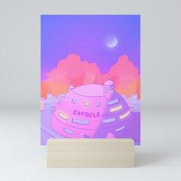 Pastel Capsule Corp Mini Art Print