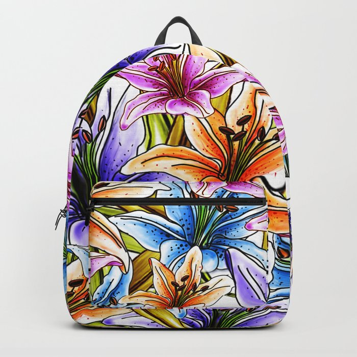 Stargazer Lily Floral Backpack