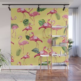 Flamingos Love Pattern 10 Wall Mural