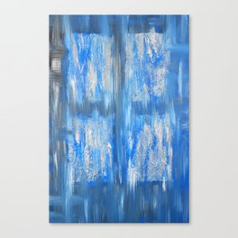 the blue window Canvas Print