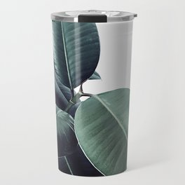 Ficus Elastica #18 #White #foliage #decor #art #society6 Travel Mug