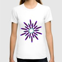 fireworks T-shirts featuring Fireworks  by Alexandra Aguilar