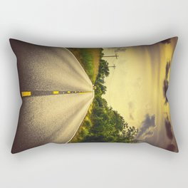 Louisiana Highway 82, an ample opportunity to see gators crossing the road Rectangular Pillow