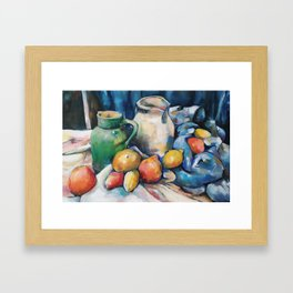Still not Cézanne Framed Art Print