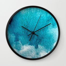 Rest: a minimal, blue abstract piece Wall Clock