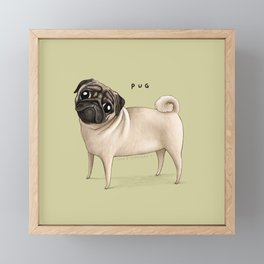 Pug Framed Mini Art Print