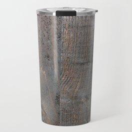 Brown Wood Panels Travel Mug