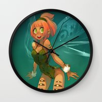 elf Wall Clocks featuring Elf by xaxaxa
