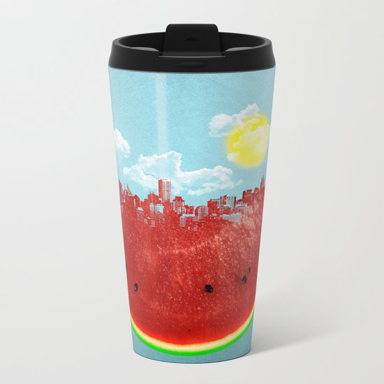 Watermelon City Metal Travel Mug