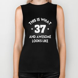 37th Birthday Shirt Biker Tank