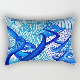 Blue Sploodge  Rectangular Pillow