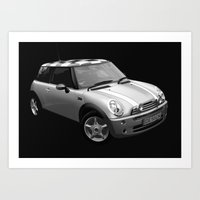 mini cooper Art Prints featuring Mini Cooper by David Luscombe
