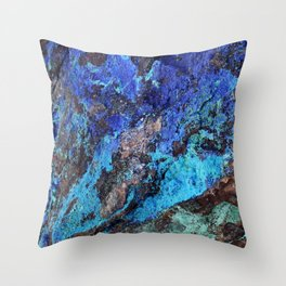 Malachite Mineral Stone rustic decor Throw Pillow