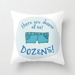 Nevernude Throw Pillow