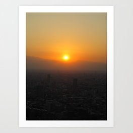 SUNSET @ ROPPONGI Art Print