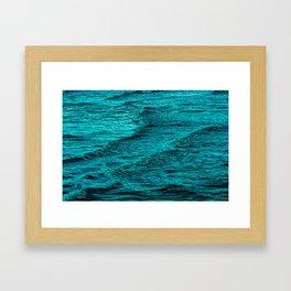 Night Ocean Waves Framed Art Print