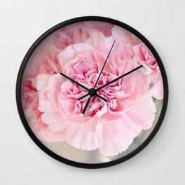 Flowers Pink Cloves Cut Wall Clock