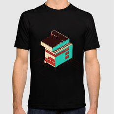 Music & Architecture SMALL Mens Fitted Tee Black