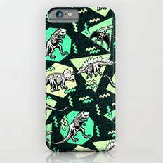 90's Dinosaur Skeleton Neon Pattern iPhone 6 Slim Case