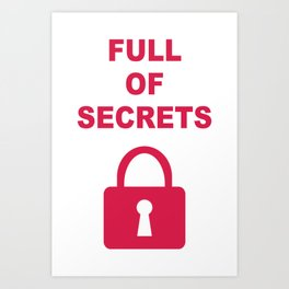 Full of Secrets Lock Art Print