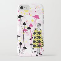 mushroom iPhone & iPod Cases featuring Mushroom by Emilie Ramon