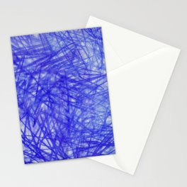 Ophelia Blue Scribble Stationery Cards