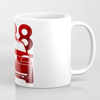 bmw Mugs featuring BMW E38 - classic red - by Vehicle