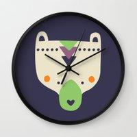 wild things Wall Clocks featuring Wild Things by Paula McGloin Studio